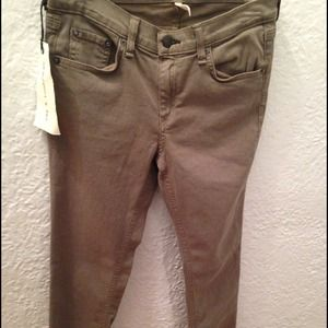 NWT Rag & Bone Army color Skinny Jeans