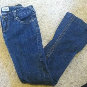 Size 25 free people jeans medium wash!