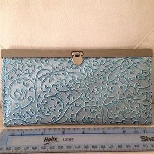 NWOT Blue Swirl Wallet