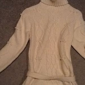 Ann Taylor loft cable knit sweater dress
