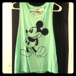 Tops - Green Mickey Mouse shirt & floral bundle
