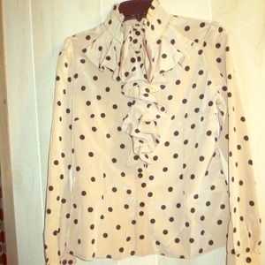 🎉 Reduced price! Large Polka Dot Blouse NWOT 🎉🎉