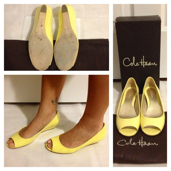 3e3d2c429eb Cole Haan Shoes -  Reduced  Patent Leather Cole Haan Peep Toe Wedge