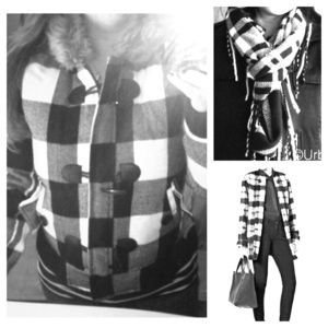 Jackets & Blazers - 💋🎉10/26 HOST PICK🎉 Black&white plaid jacket