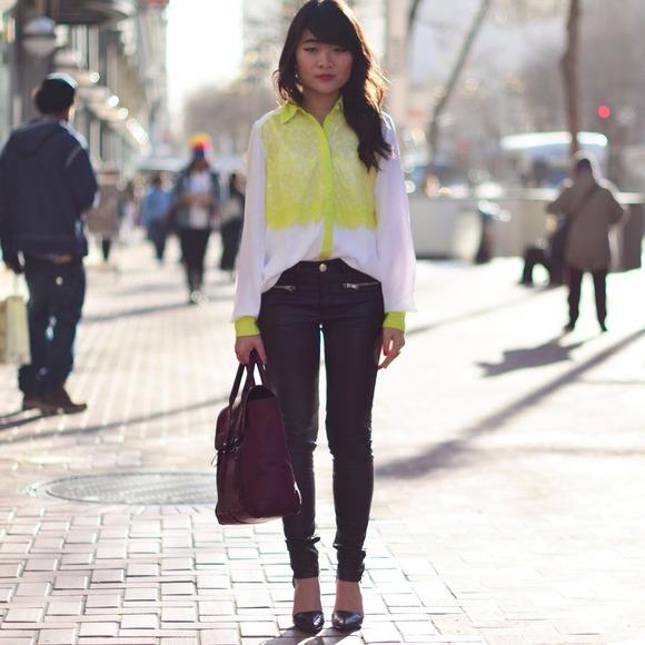 BNWT White Neon Blouse Size XS