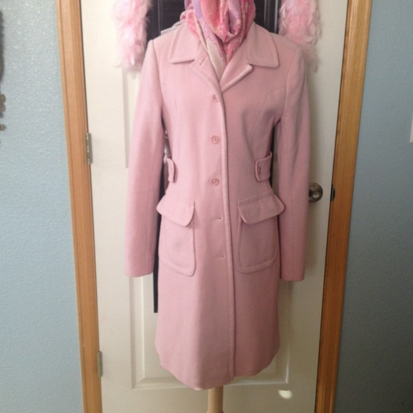 77% off Victoria's Secret Outerwear - Soft pink wool coat from ...