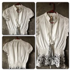 Tops - Open front blouse