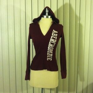 Abercrombie & Fitch Sweaters - Maroon Abercrombie Hoodie.