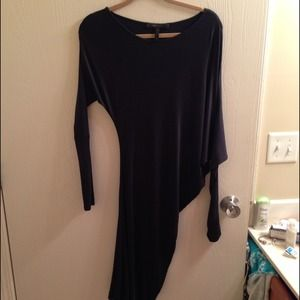 Bcbg long sleeved drape dress