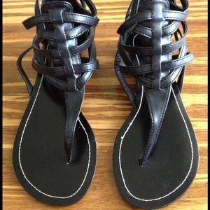 Black sexy strappy sandal