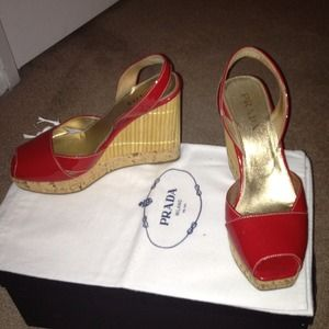 Red patent Prada shoes