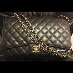 Chanel Classic Handbag Maxi Flap Bag
