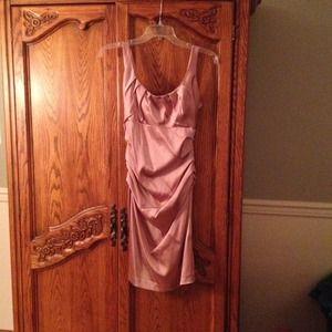 Beautiful blush colored cocktail dress.