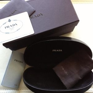 Prada Accessories - Prada sunglass case, box, cloth, authenticity cert