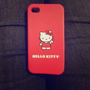 Sanrio Other - Hello Kitty iPhone 4 / 4s Red Jelly Rubber Case