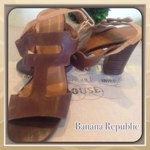 cognac leather sandal from BR.
