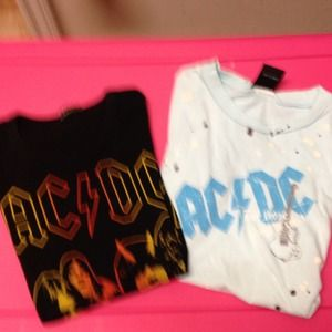 Tops - AC/DC T-shirts.