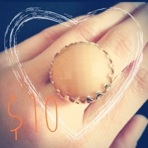 Vintage Jewelry - Vintage Pale Pink Gold Ring