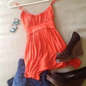 Bright orange top! Perfect for summer!