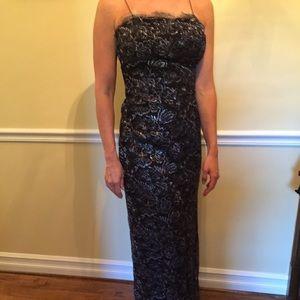 Custom YSL Black/Silver Dress