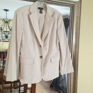 Banana Republic cream corduroy blazer
