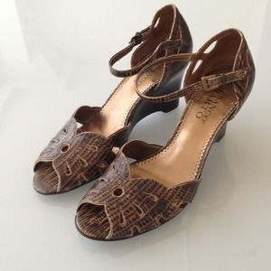 Franco Sarto brown wedge sandal 6.5
