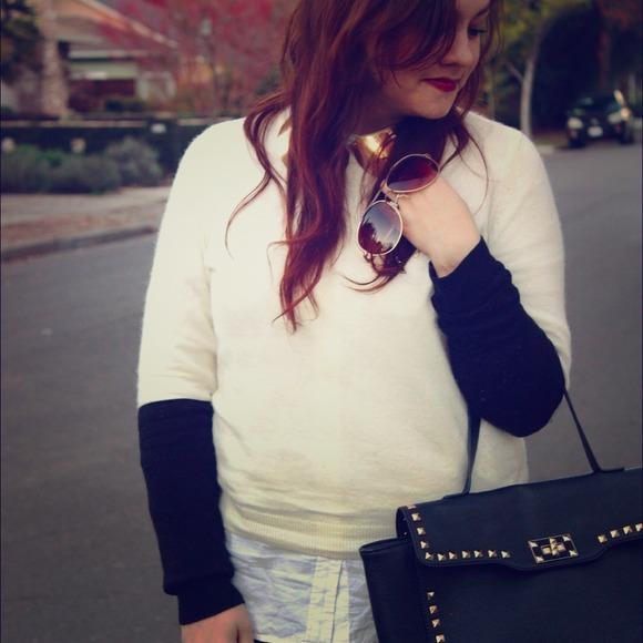 Black & White Color Block Sweater