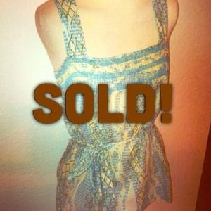 Sz M Spring Belted tank Top shirt