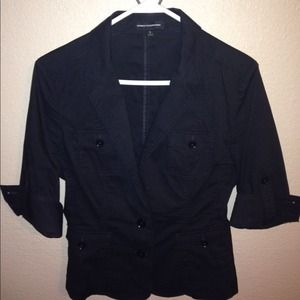 Black Button-Up Top