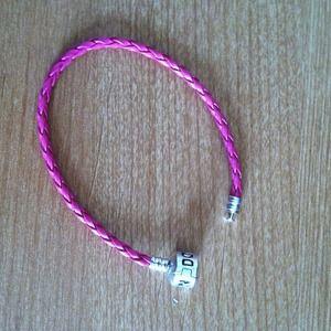 Jewelry - Pink leather pandora small  NOT REAL PANDORA