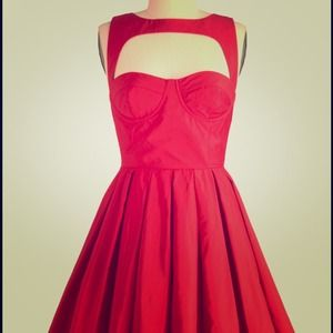 BB Dakota Dresses & Skirts - BB Dakota Kassia dress. Perfect red party frock!