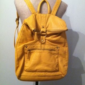 Urban Outfitters Handbags - Mustard leather backpack