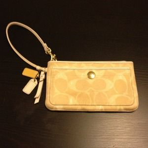 Authentic coach wristlet/ wallet