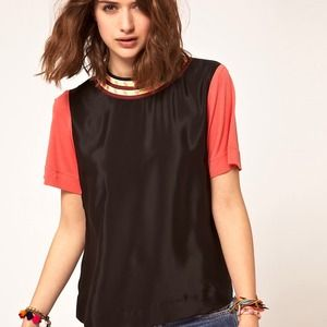 Asos Colorblocked blouse
