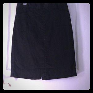 Black banana republic skirt