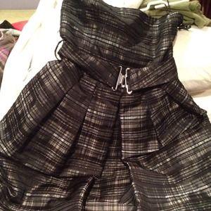 Zara tartan-like dress