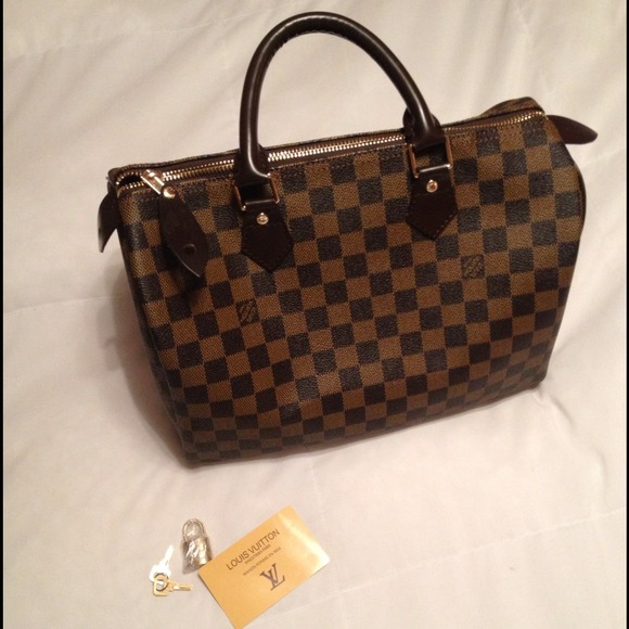 30d05e1bf9f7 Louis Vuitton Handbags - Louis Vuitton Speedy 30 Damier Ebene Canvas