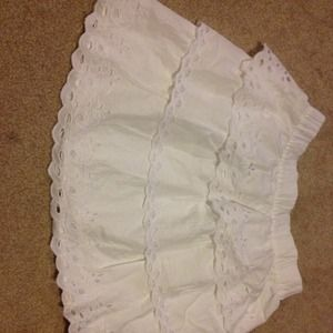 White jcrew skirt