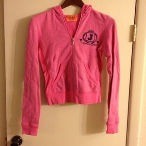 Pink Juicy Couture Zip up Hoodie