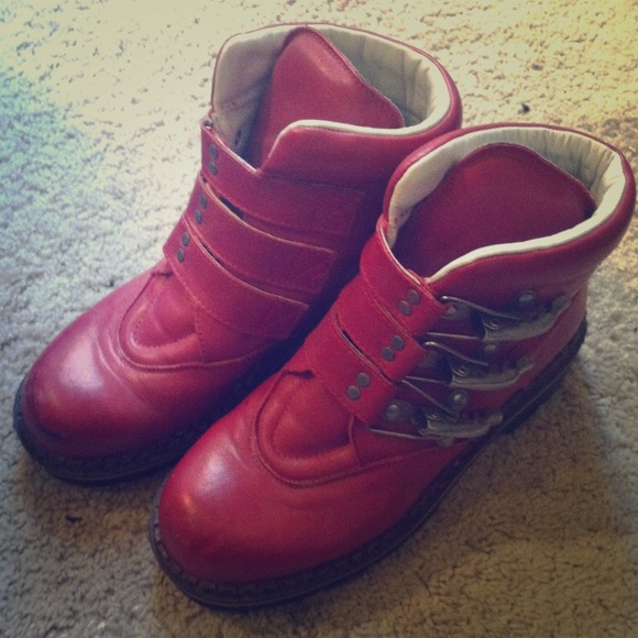 competitive price 5cfcb 1bee0 geier wally brick red motorcycle boots /8.5