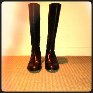 CHANEL (guaranteed authentic)  dark brown boots