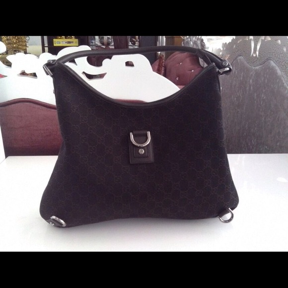 6e2fb1dc85c5 Gucci Bags | Authentic Abbey Gg Denim Hobo Bag | Poshmark