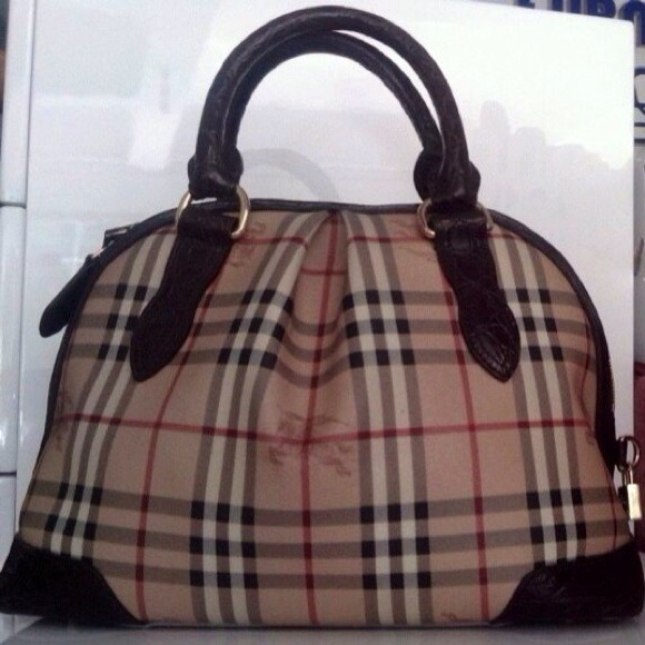 Authentic Burberry bowling bag NWT