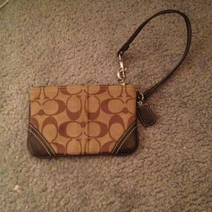 Authentic coach wristlet!