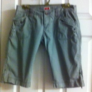 Military green Bermuda shorts