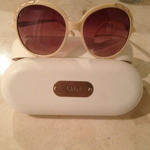 Authentic CHLOE oversized beige sunglasses