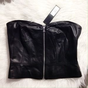 Marc by Marc Leather Bustier