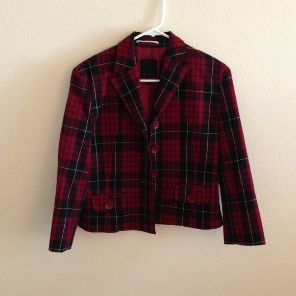 The Limited Jackets & Blazers - The Limited Plaid Blazer
