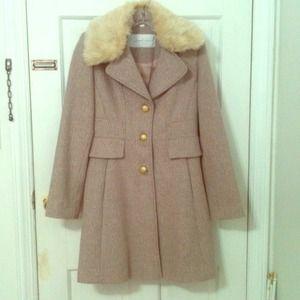 Jessica Simpson pink tweed coat