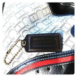 Coach bag keychain